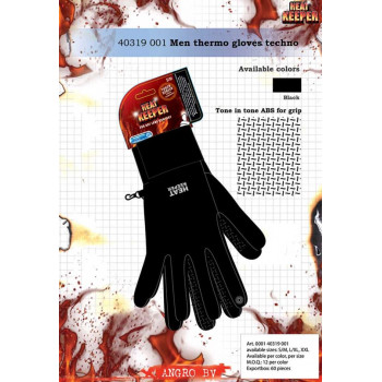HEREN THERMO HEAT KEEPER HANDSCHOEN BLACK