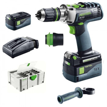 FESTOOL ACCU-KLOPBOORMACHINES PDC 18/4 LI 5,2-PLUS