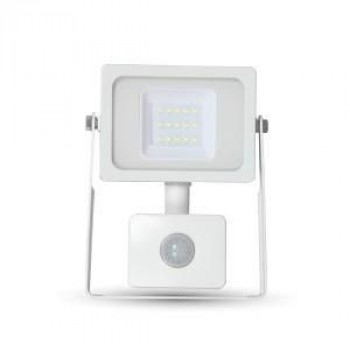 LED BOUWLAMP SLIM 10W 6000K MET SENSOR WIT