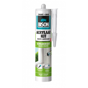 ACRYLAATKIT ZWART 310ML BISON